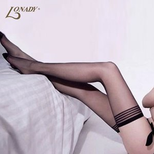 Wholesale 18D Fashion Sexy Women tights Thigh High Stockings solid Nylon Transparent Sexy high for Women stockings female stocking