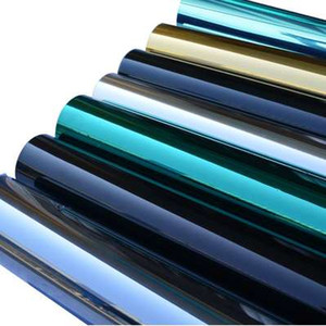 Wholesale blue mirror tint for sale - Group buy Silver Mirror Window Film Insulation Solar Tint Stickers UV Reflective One Way Privacy Decoration For Glass Green Blue Black