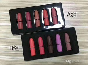 Wholesale M brand Frost Sexy lipstick M Makeup look in a box be sfnsational mini size Lipsticks Frost Matte Lipstick