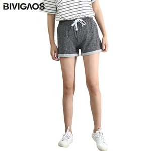 Summer Womens Drawstring Wide Leg Shorts Loose Workout Shorts Female Hemming Terry Short Home Casual Shorts For Women