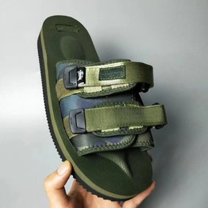 Top Quality Red CLOT X SUICOKE OG-056STU MOTO-STU Summer Trip Fest Black silk Sole Sandal Slides SUICOKE KISEEOK-044V Slippers