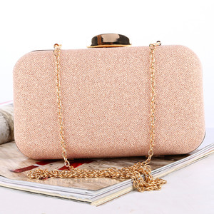 Ladies' dinner bag Rose gold lady's and bridal evening bag Customized large-capacity clutch Fantasy hand bags fashion for lady and bridal