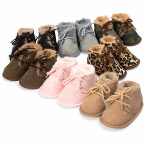Wholesale 2018 new winter baby super warm boots with fur baby boys girls boots first walkers sofe sole month shoes