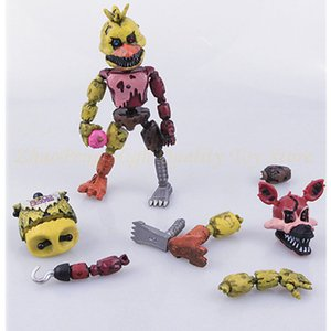 Wholesale Eco Friendly Lightening Movable Joints Five Nights At Freddy S Action Figure Toys Foxy Freddy Chica Pvc Model Dolls Kids Brinquedos