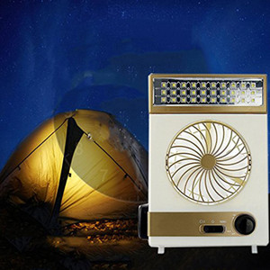 Wholesale Cooling Fan Camping Lamp Multi functional Solar Table Lamp Flashlight Torch LED Solar and AC Cord Charging for Home Use Outdoor Camping