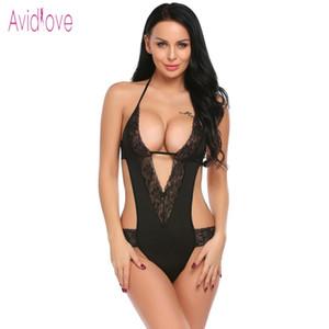 Baby doll Lingerie Sexy Hot Erotic Teddies Bodysuits Women Lace Mesh Teddy Nightwear Nightgown Female Negligee Costume S923