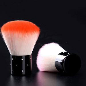 Wholesale Makeup Brush Nail Art Dust Brush Acrylic UV Gel Nail Art Dust Clean Brush Manicure Pedicure Tool Rhinestones Handle Nail Brushes