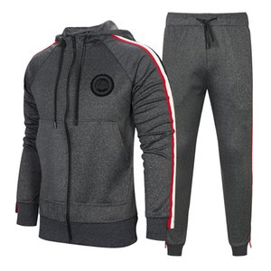 Wholesale Tracksuit For Men Pieces Set New Fashion Jacket Sportswear Men Tracksuit Hoodie Spring Autumn Brand Clothes Hoodies Pants