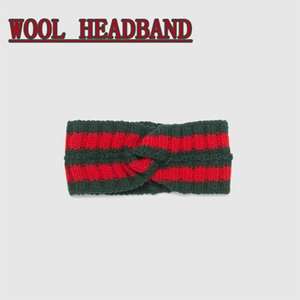 Wholesale Brand wool Cross Headband High quality Luxury Designer Elastic green blue red Turban Hairband For Women Girl Retro Headwraps Gifts