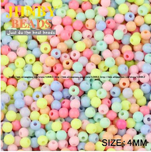 Wholesale JHNBY Cream beads High quality Acrylic beads MM Round Candy Neon smooth Loose beads ball Jewelry bracelet making DIY