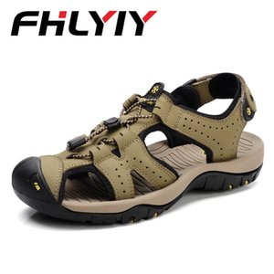 Wholesale Plus Size Top Quality Sandal Men Sandals Summer Genuine Leather Sandals Men Outdoor Shoes Leather Sapato
