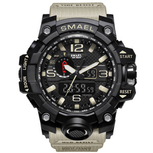 Wholesale electronic military for sale - Group buy SMAEL Brand Men Sports Watches Dual Display Analog Digital LED Electronic Quartz Wristwatches Waterproof Swimming Military Watch
