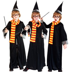 Wholesale Harry Kids Boys Magician Costume Fancy Dress Halloween Christmas Carnival Potter Children Cosplay Clothes