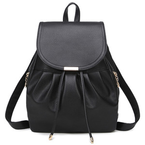 Wholesale New shoulder bag female Korean version PU female bag Japanese and Korean style fashion casual backpack student bag