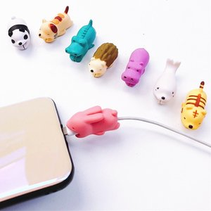 Wholesale Cable Animal bite USB Lightning Charger Data Protection Cover Mini Wire Protector Cable Cord Phone Accessories Creative Gifts Designs