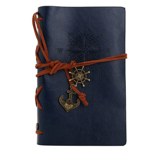 Vintage Leather pirate Anchor Decor notebooks Travel Journal kraft papers Note Books Notepad fashion student blank books kids best gift