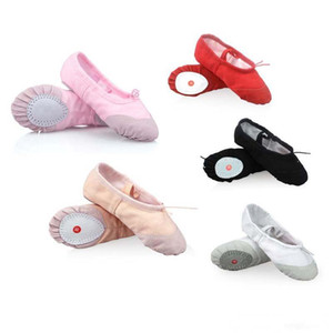 Wholesale 2018 New Fashion Canvas Hard Court Ballet Shoes Dance Yoga Gymnastic Split Sole Adult's & Children's Sizes 5 Colors Kids Shoes