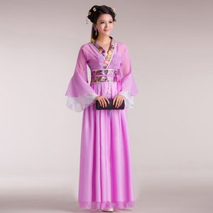 Fairy Dance Dress Hanfu Dress Sexy Costume Female Guzheng Costumes Chinese Folk Dance Costume