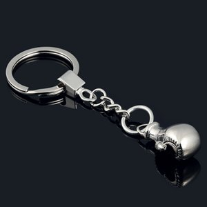 Wholesale Cool Cute Boxing Gloves Key Chain Bag Pendant Key Ring Sport Chain Fist Keychain Boxer Golvers Keychain P3