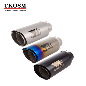 TKOSM 51mm Motorcycle Exhaust Eipe Laser AR Three Colors Exhaust Double Tail Muffler For Kawasaki Z900 GSXR1000RR DUKE690