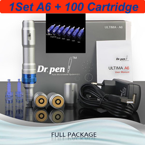 DR008 Dr. Pen Ultima A6 Nano Chip Therapy Device & Dr pen A6 Accessories - for Scars, Acnes, Spots, Wrinkles, Tattoo Lips & Eyebrows
