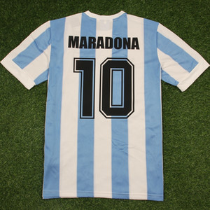 Wholesale soccer jersey shirts for sale - Group buy 1986 Argentina retro classic vintage DIEGO MARADONA jersey Soccer jersey Camisa de futebol jersey Adult football Shirt THAILAND QUALITY