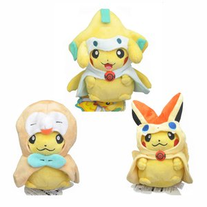 Wholesale Hot New Styles quot quot CM CM PKC Cosplay Jirachi Rowlet Victini Plush Doll Anime Soft Dolls Gifts Stuffed Toys