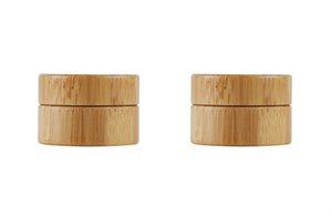 5g bamboo container Plastic wood Cream Jar, cream jars cosmetic packaging Empty bamboo plastic Cosmetic jar with lid