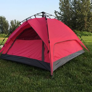 Wholesale Outdoor Tents Fully automatic Opening Instant double layer Portable Beach Tent Beach Shelter Hiking Camping Family Tents Person mk290