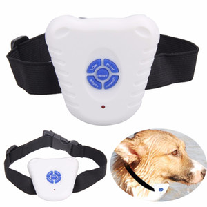 cão ultra-sônico colar de descascao venda por atacado-2018 Novo Seguro Ultrasonic Dog Pet Bark Parar Anti Barking Controle Collar Parar Barking Dog Collars