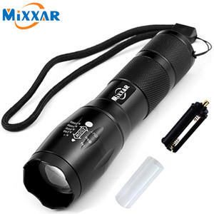 Wholesale Cree Xml T6 lm Led Torch Zoomable Flashlight Lantern Led Flashlight Torch Light For Rechargeable Battery Or