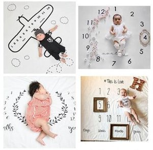 Wholesale Thick newborn photography background props baby photo prop fabric backdrops easter infant blankets wrap letter soft blanket ins cloth mat