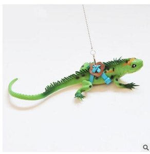 Wholesale drop shipping Adjustable Reptile Lizard Harness Leash Adjustable Hauling Cable Rope walking cabrite lizards lead on sale ANI-127