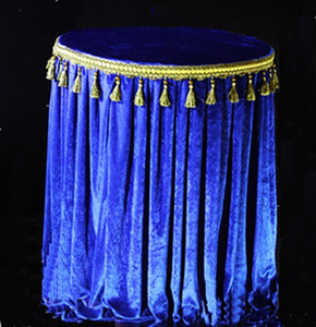Wholesale blue table cloths resale online - Spandex velvet Royal Blue Navy blue m diameter round table cover table cloth With