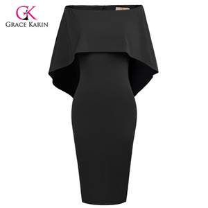 wholesale Short Evening Dress Cloak Cape Drape Tunic Formal Celebrity Elegant Evening Party Sheath Bodycon Pencil Dress Summer