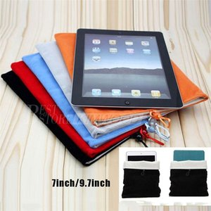 Wholesale 7inch inch Universal Felt Sleeve Cover For Tablet PC iPad Mini Samsung Tab S2 S3 Soft Leather Protective Case Carrying Bag