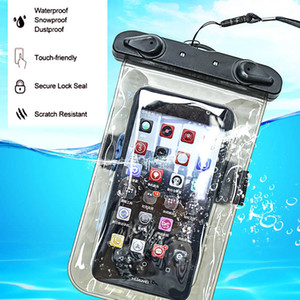Wholesale PVC Luminous Waterproof Phone Case Cover for Cell Phone Touchscreen Mobile iphone Water Proof Underwater Transparent Pouch Bag