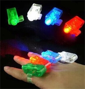 Wholesale LED Finger Light Battery Operated Lights Colors For Children Day Kid Birthday Toys Gifts Lamps ms gg