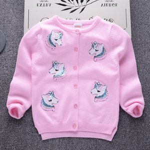 Wholesale Cardigan Sweater for Girls Brand Design Autumn Girls Jacket Cotton Knit Sweater Baby Boys Casual Toddler Kids Clothes