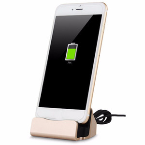 Wholesale Sync Data Fast Charging Dock Station Desktop Docking Charger USB Cable For i5 S SE X s Plus Micro Type C
