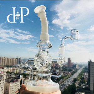Wholesale tornado water bongs for sale - Group buy Plus Glass Bong Dab Rig Water Pipe WAC No Logo quot Smoke Ring Donut quot All Clear heady art pipe tornado recycler