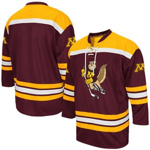 Minnesota Golden Gophers Maroon K1 College Hockey Jersey Embroidery Stitched Customize any number and name Jerseys on Sale
