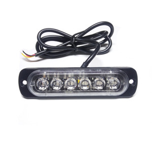 luces de barra de luz estroboscópica ámbar al por mayor-2X Car Styling W ámbar blanco indicador de flash estroboscópico auto intermitente de emergencia Luz de advertencia Bar LED de luces de estacionamiento del nuevo envío libre