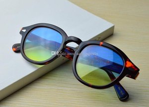 Wholesale NEW style color lens color frame size high quality lemtosh sunglasses men and women sun glasses with original box