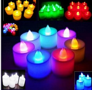 Cheap Led Electronic Candle Light Halloween Wedding Christmas Birthday Candle Venue Layout Props Button Decorations Led Small Tea Light