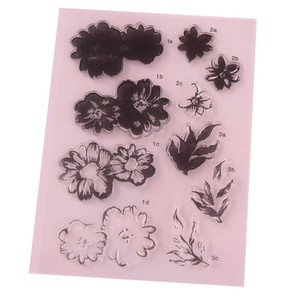 2018 1PCS Flower Style Clear Stamp DIY Silicone Seals Scrapbooking Card Making Photo Album Decoration Supplies