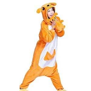 Wholesale Adult Animal Pajamas Kangaroo Plush Cosplay Onsies Sleepwear Plush Toy Included