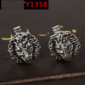 Factory direct Y1358 new lion head ear clip texture heavy ear ornament original single retro nail pin on Sale