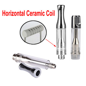 Wholesale snake oil resale online - AC1003 Vape Pen Tank Extract Thick Oil Vaporizer Ecig Atomizer Glass Cartridges With Metal Tip Snake Premium Ceramic Coil Carts