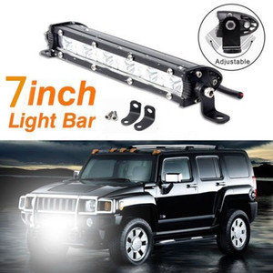 Wholesale 1Pc W LED Work Light Bar Car Driving Lamp Spot Flood Lamp v v Working Lamp Truck Suv Boat ATV X4 Off road WD Motorcycle